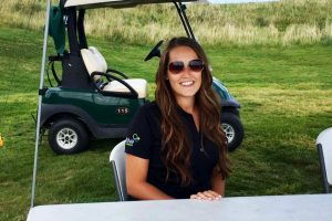 Katie Gillis, EIT, volunteering at the APEGNB Moncton Branch Golf Event, August 25, 2017