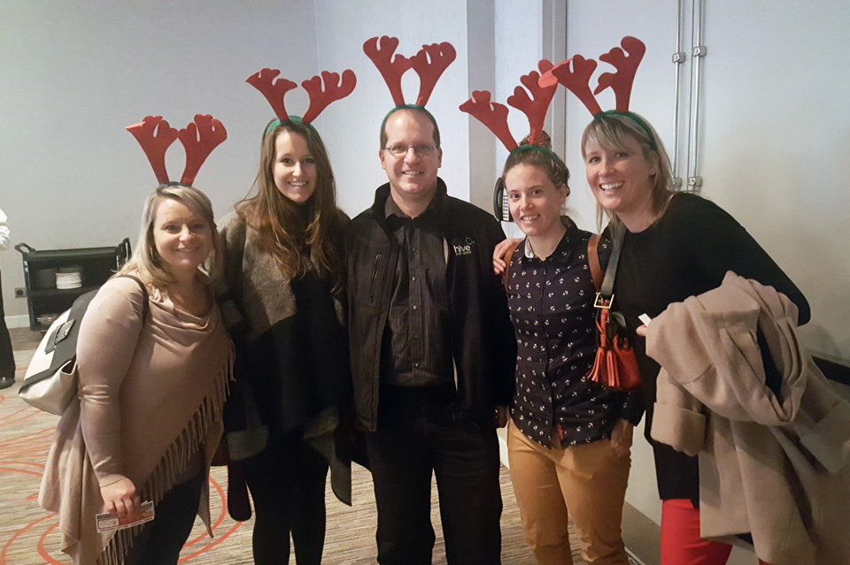 Hive staff at the 14th annual Antler Breakfast in support of the Greater Moncton Progress Club